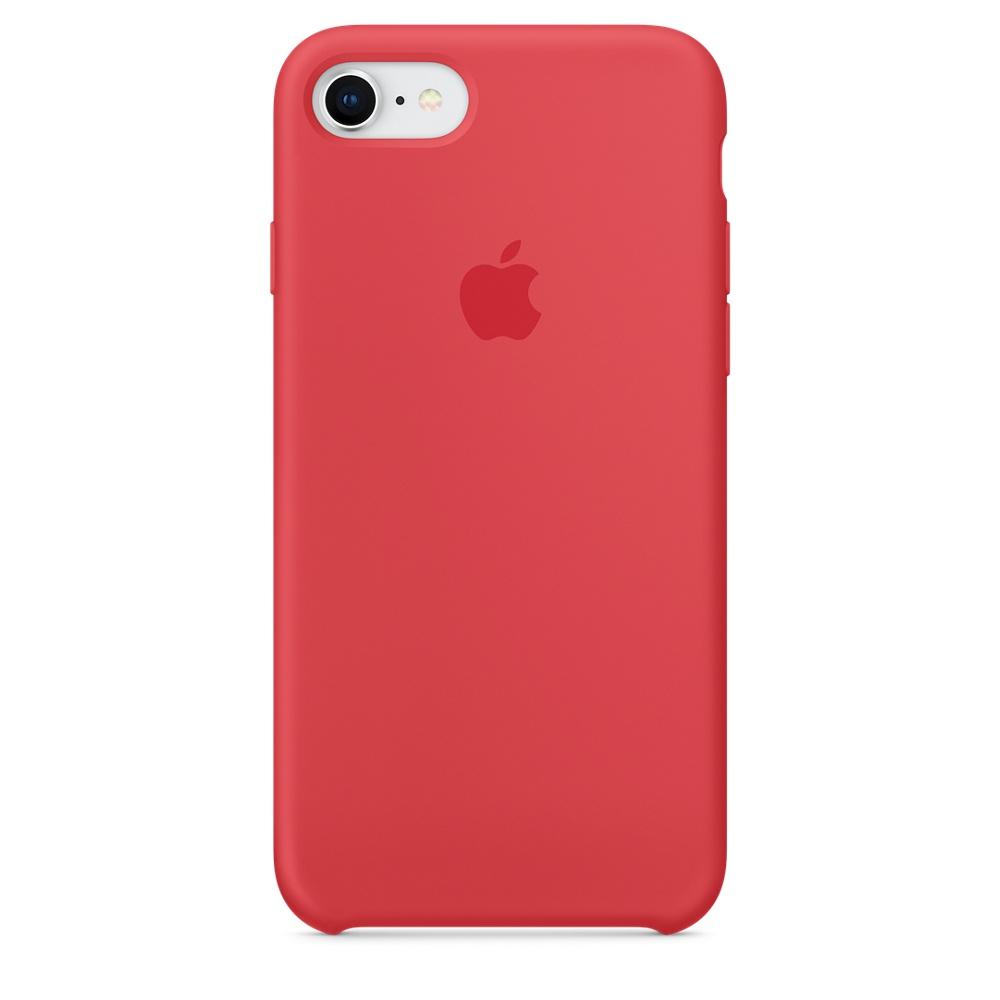 Чехол Apple Silicone Case для iPhone 8/7 Red Raspberry Original (MRFQ2)