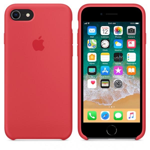Чехол Silicone Case на iPhone 7 / 8 / SE (2020) Red Raspberry OEM