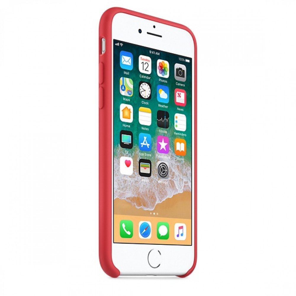 Чехол Apple Silicone Case на iPhone 7 / 8 / SE (2020) Red Raspberry Original (MRFQ2)
