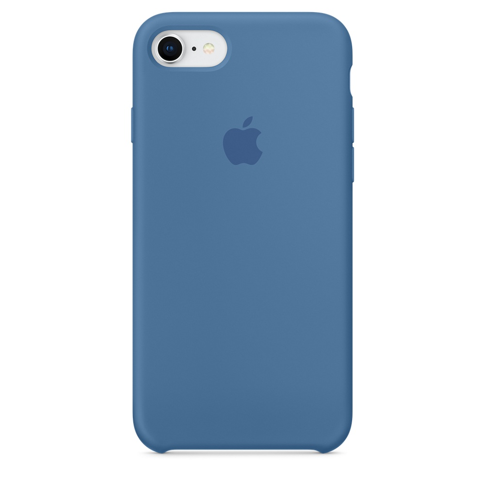 Чехол Apple Silicone Case для iPhone 8/7 Denim Blue Original (MRFR2)