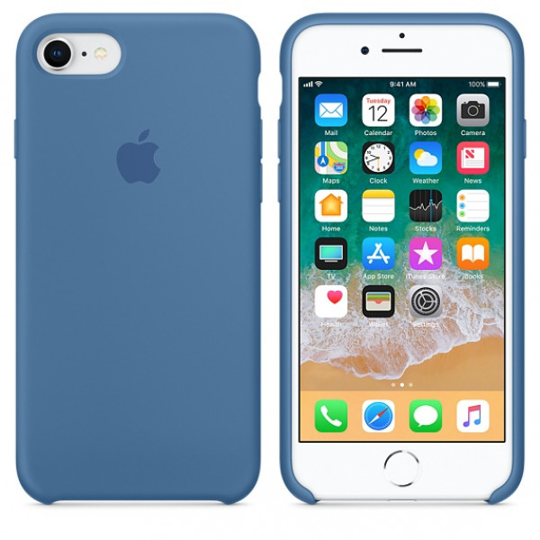 Чехол Apple Silicone Case на iPhone 7 / 8 / SE (2020) Denim Blue Original (MRFR2)