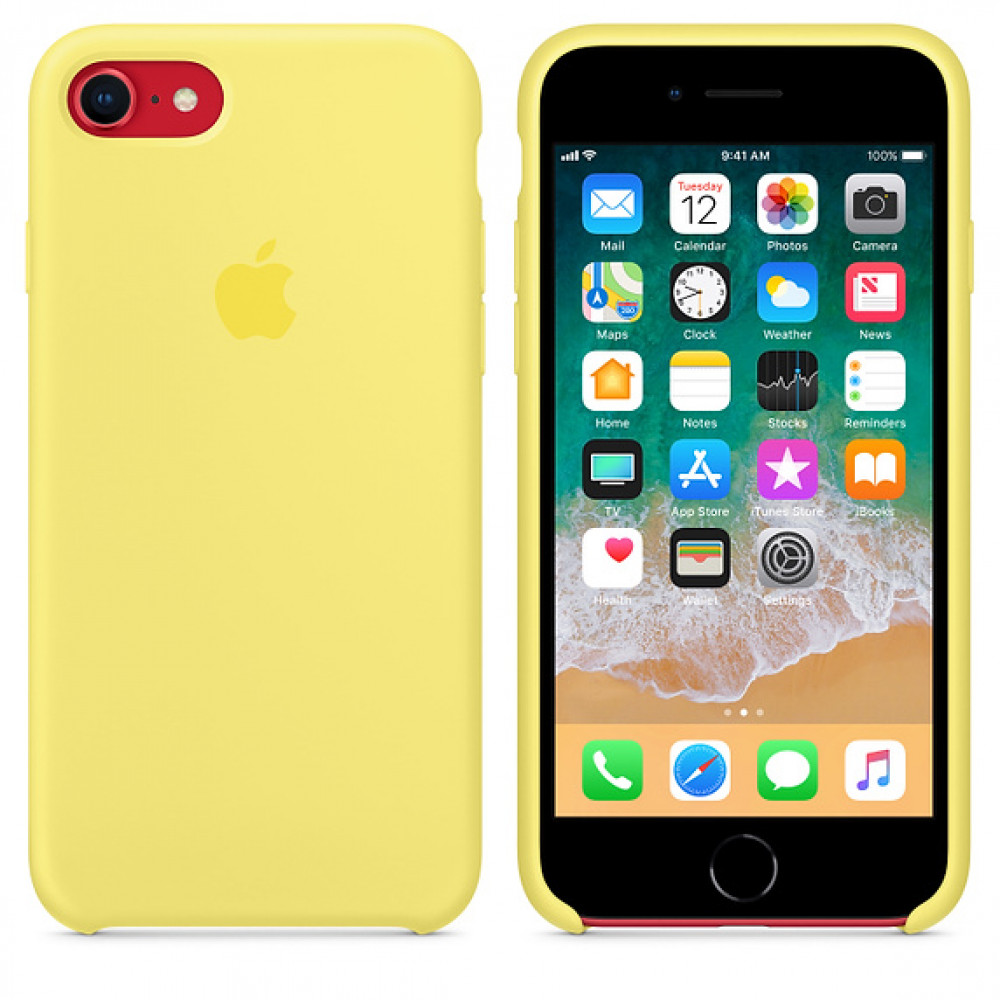 Чехол Apple Silicone Case на iPhone 7 / 8 / SE (2020) Lemonade Original (MRFU2)