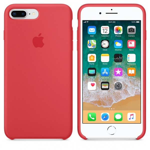 Чехол Apple Silicone Case для iPhone 8 Plus/7 Plus Red Raspberry Original (MRFW2)