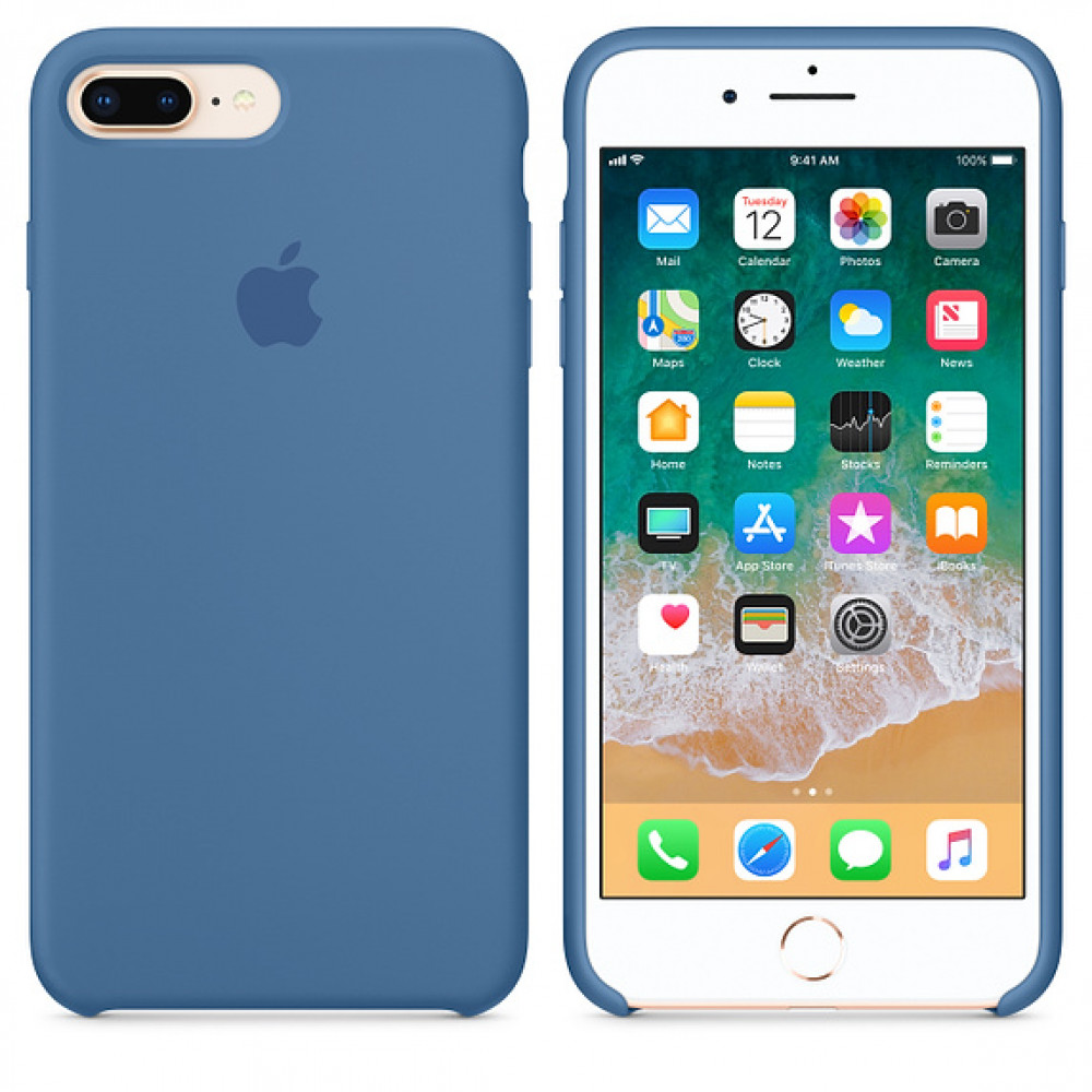 Чехол Silicone Case для iPhone 7 Plus/8 Plus Denim Blue OEM