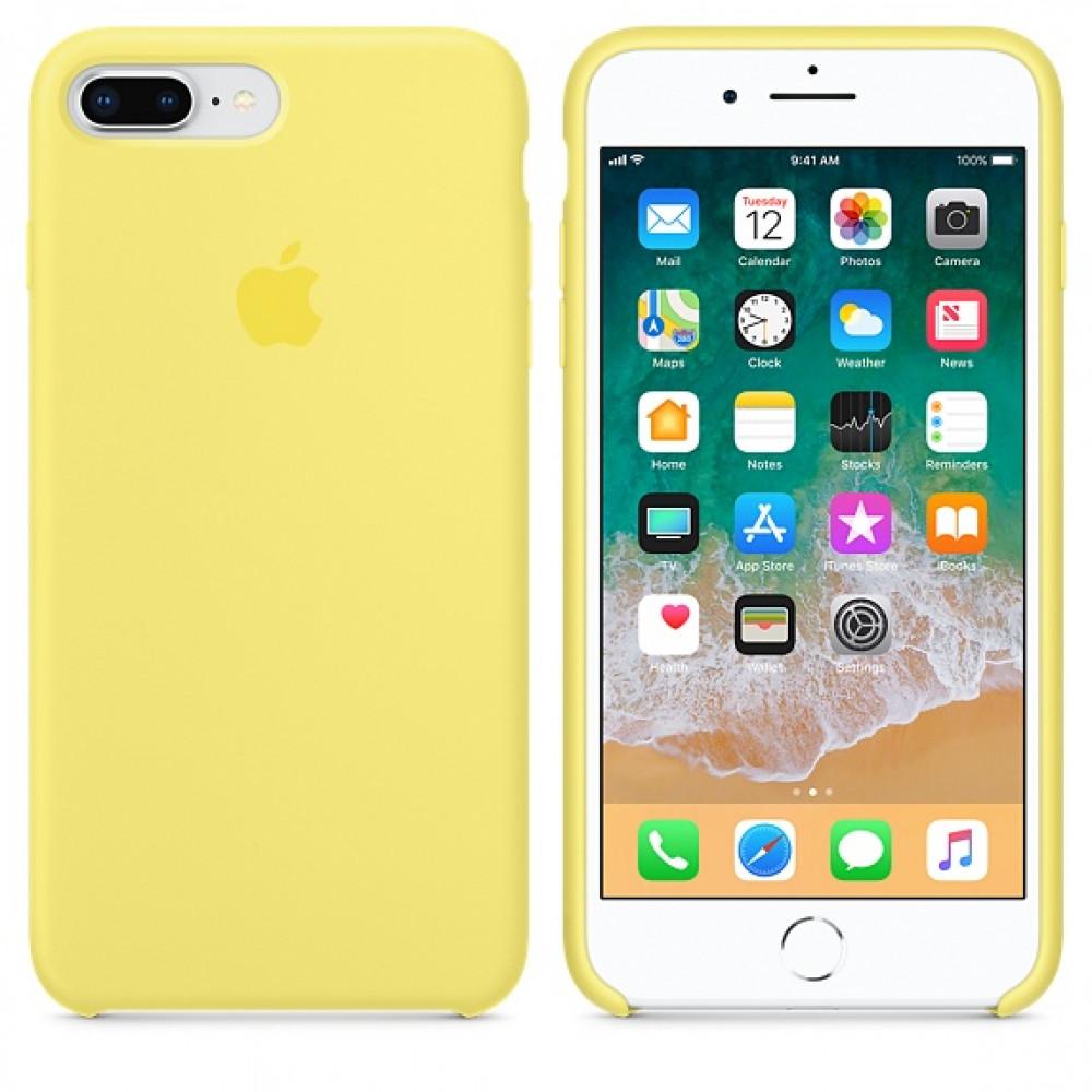 Чехол Silicone Case для iPhone 7 Plus/8 Plus Lemonade OEM
