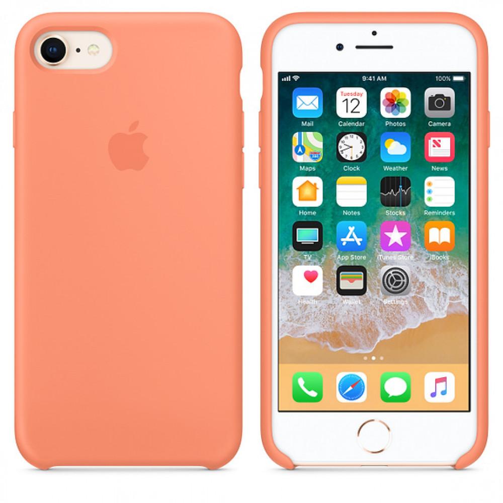 Чехол Silicone Case на iPhone 7 / 8 / SE (2020) Peach OEM