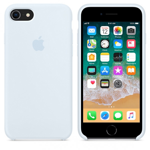 Чехол Silicone Case на iPhone 7 / 8 / SE (2020) Sky Blue OEM