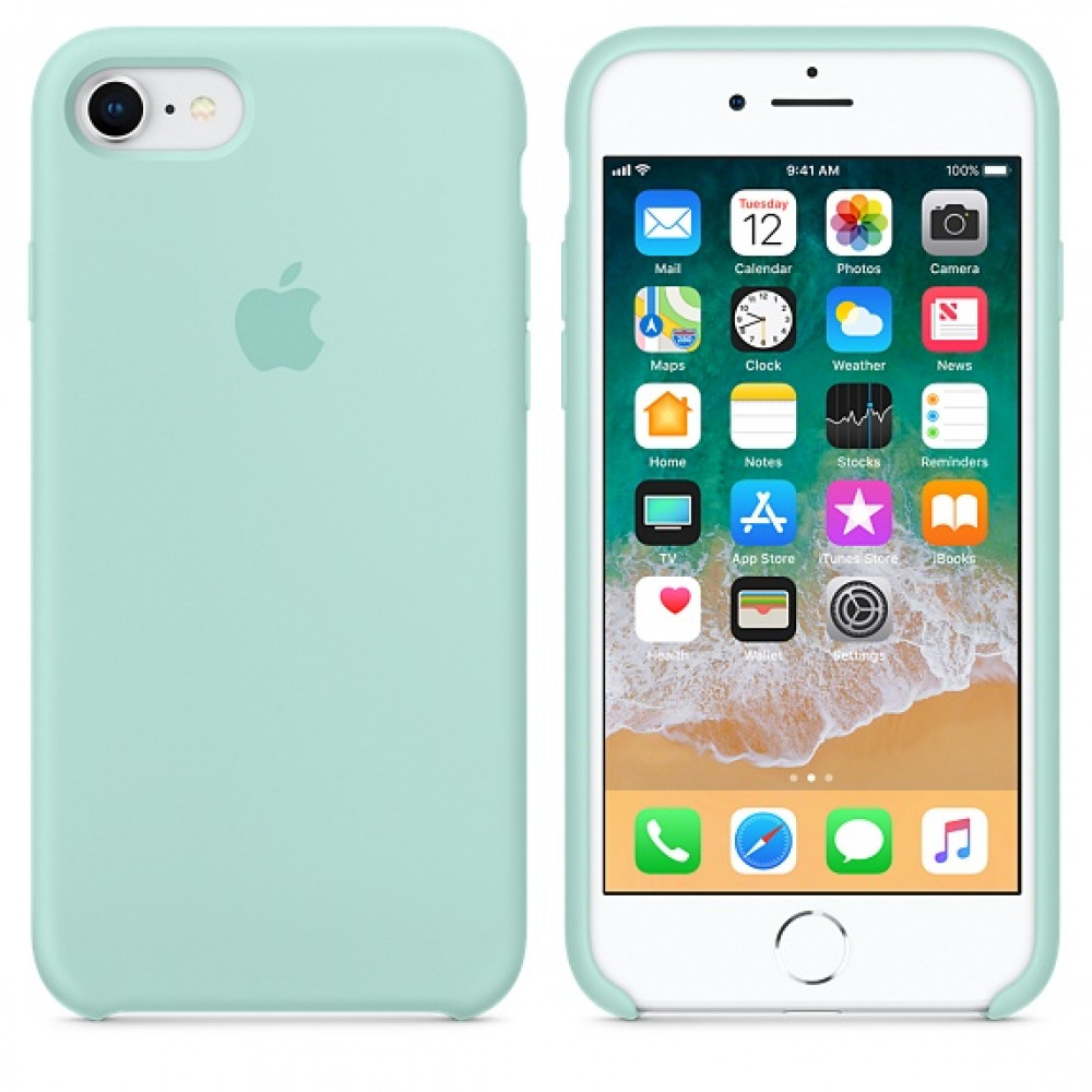 Чехол Silicone Case на iPhone 7 / 8 / SE (2020) Marine Green OEM