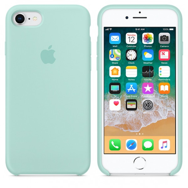 Чехол Apple Silicone Case на iPhone 7 / 8 / SE (2020) Marine Green Original (MRR72)