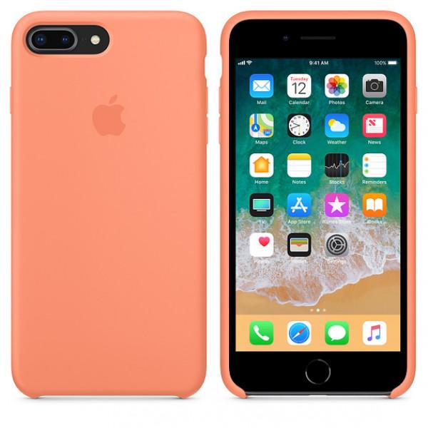 Чехол Silicone Case для iPhone 7 Plus/8 Plus Peach OEM