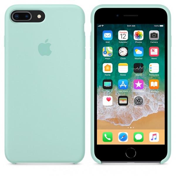 Чехол Silicone Case для iPhone 7 Plus/8 Plus Marine Green OEM