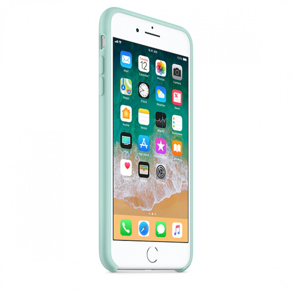 Чехол Silicone Case для iPhone 7 Plus/8 Plus Marine Green OEM