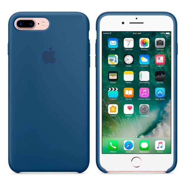 Чехол Silicone Case для iPhone 7 Plus/8 Plus Ocean Blue OEM