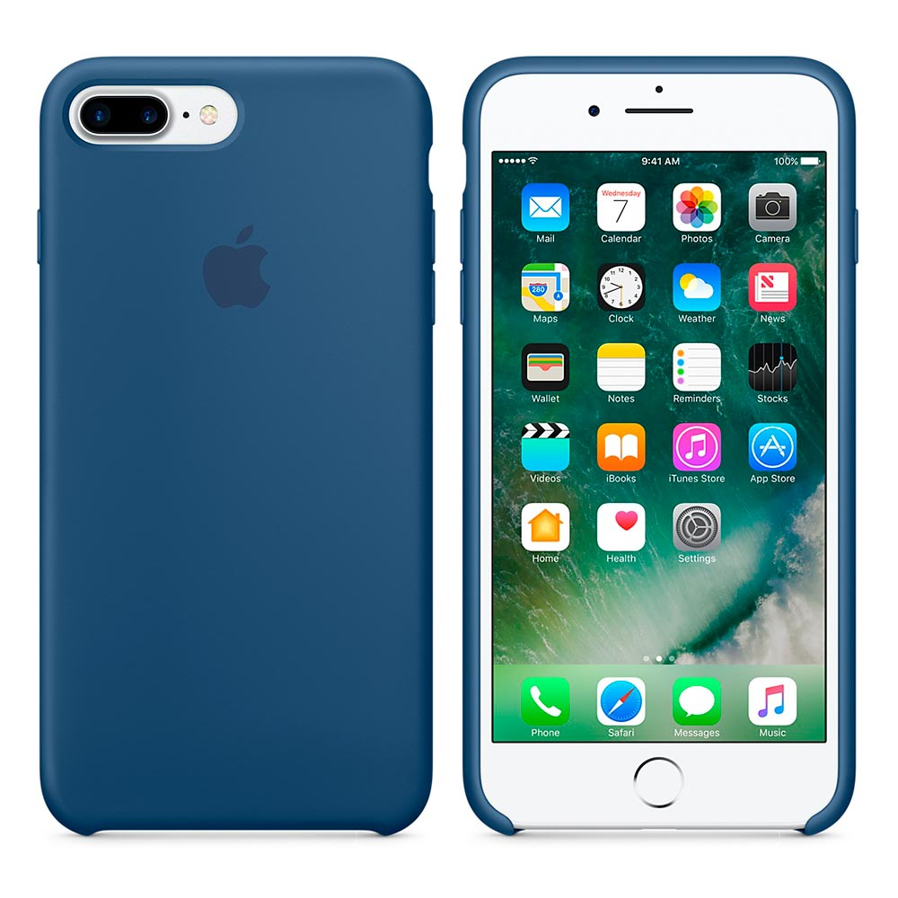 Чехол Silicone Case для iPhone 7 Plus/8 Plus Ocean Blue OEM