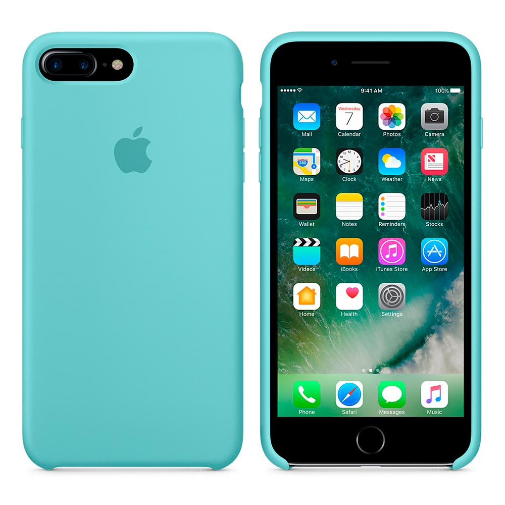 Чехол Silicone Case для iPhone 7 Plus/8 Plus Sea Blue OEM