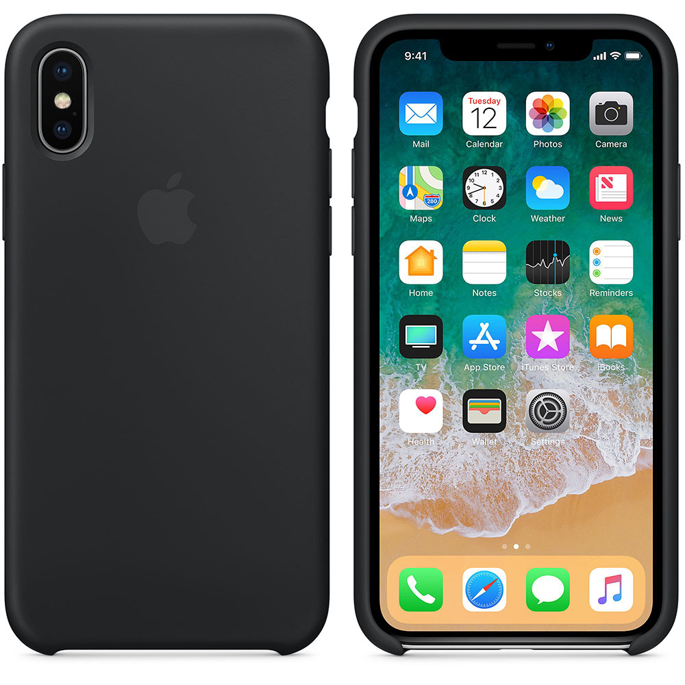 Чехол Apple Silicone Case для iPhone X / XS (Black) Original (MQT1272)