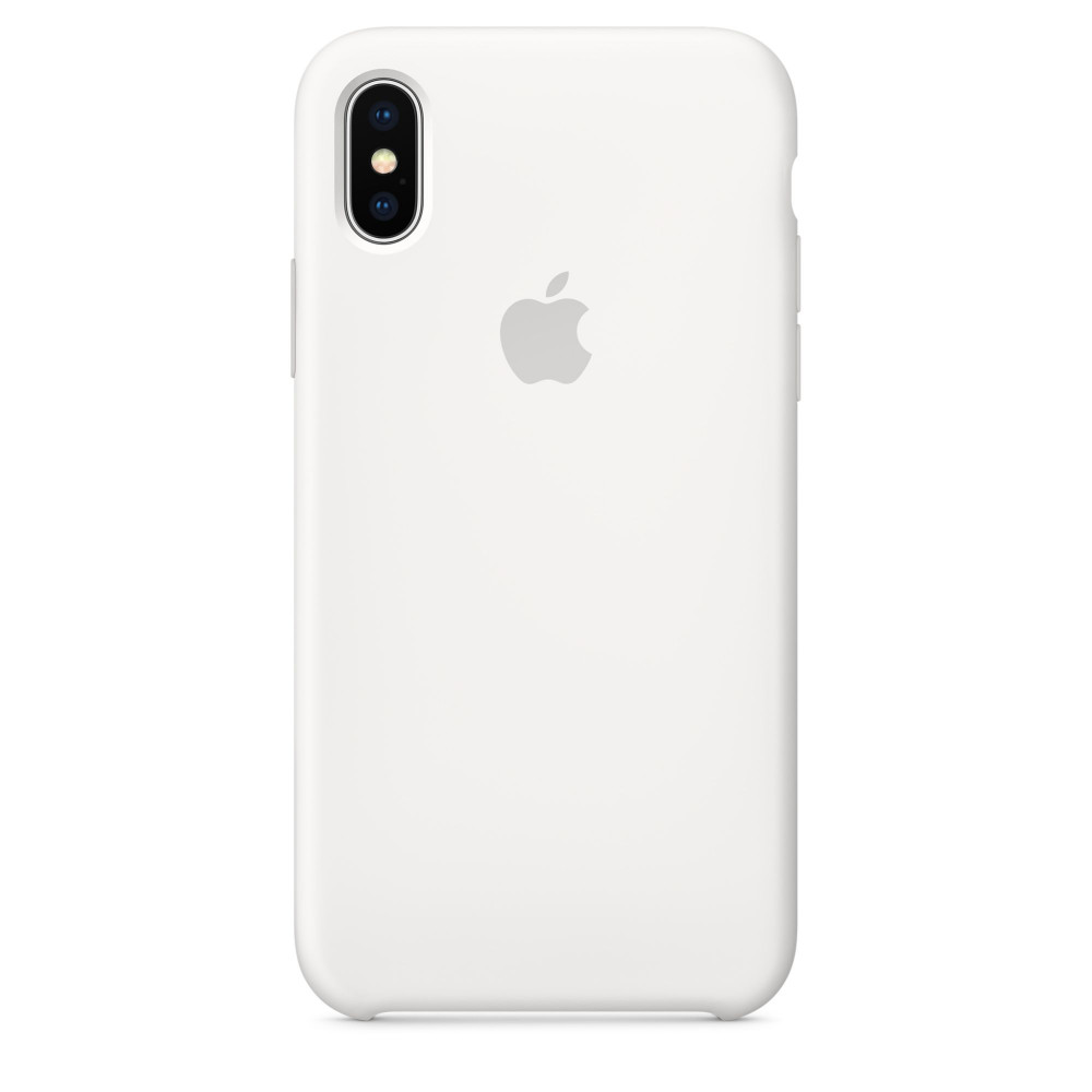 Чехол Apple Silicone Case для iPhone XS White Original (MRW82ZM/A)