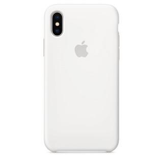 Чехол Apple Silicone Case для iPhone XS White Original (MRW82ZM/A)