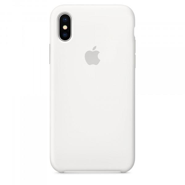 Чехол Apple Silicone Case для iPhone X / XS (White) Original (MRW82ZM/A)