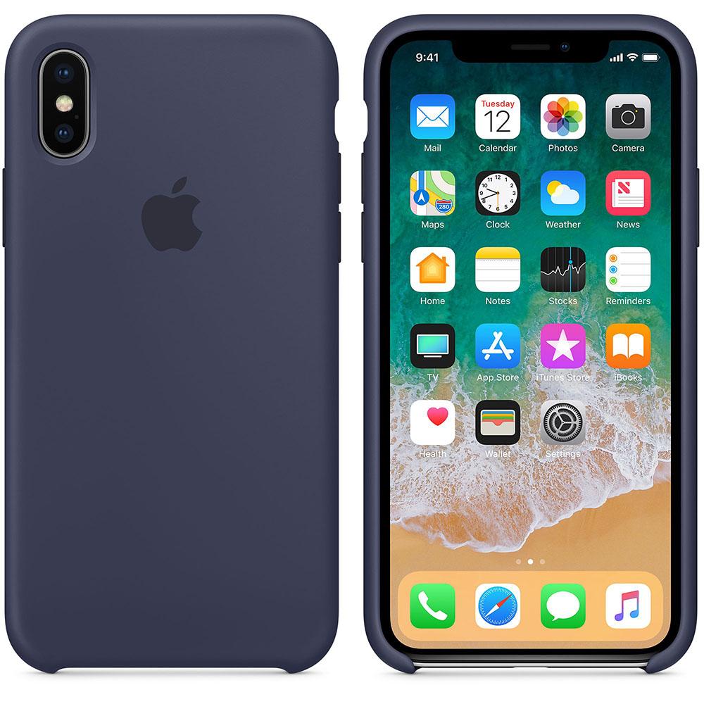 Чехол Apple Silicone Case для iPhone X / XS (Midnight Blue) Original (MRW92ZM/A)