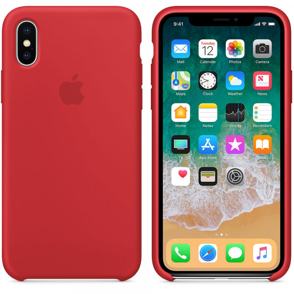 Чехол Apple Silicone Case для iPhone X / XS PRODUCT (RED) Original (MRWC2ZM/A)