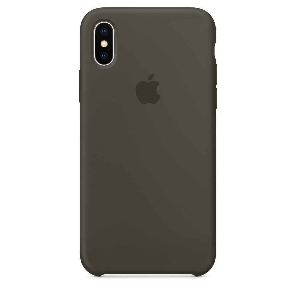 Чехол Silicone Case для iPhone X Dark Olive OEM