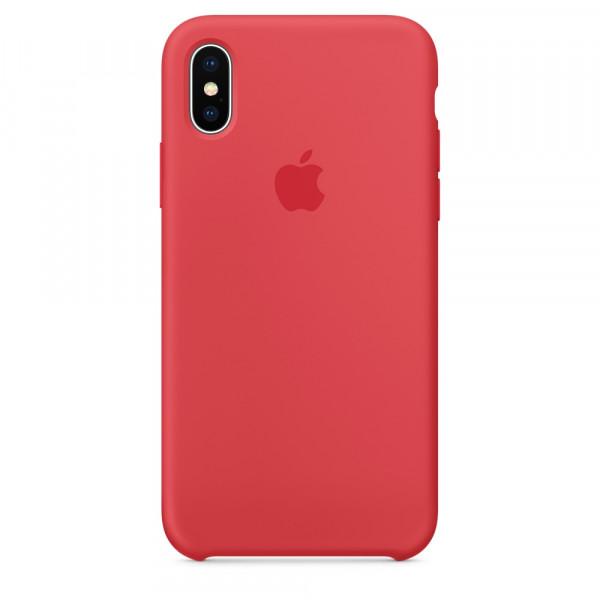 Чехол Apple Silicone Case для iPhone X / XS (Red Raspberry) Original (MRG12)