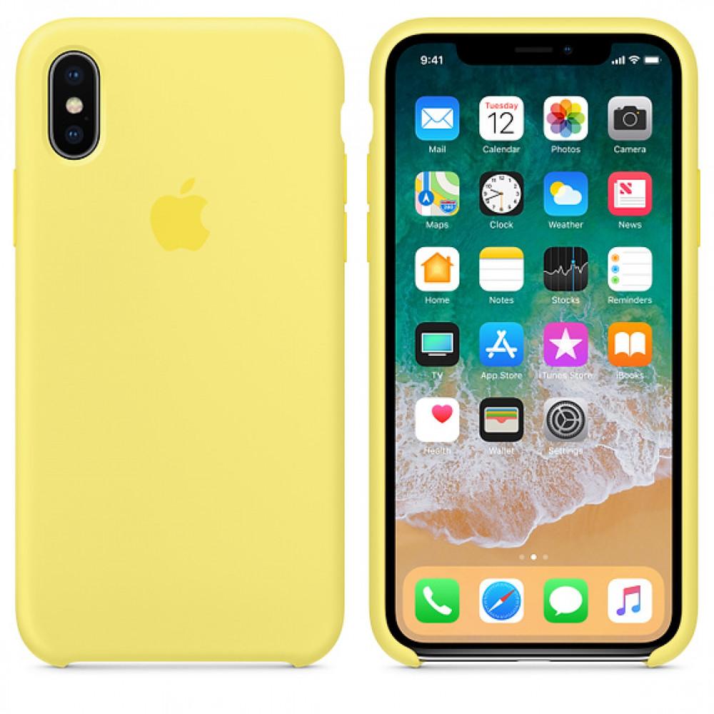 Чехол Apple Silicone Case для iPhone X / XS Lemonade Original (MRG32)