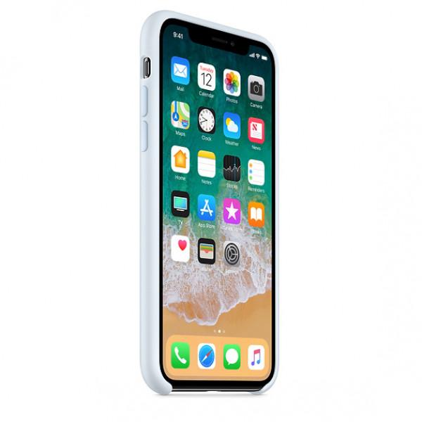 Чехол Apple Silicone Case для iPhone X / XS (Sky Blue) Original (MRRD2)