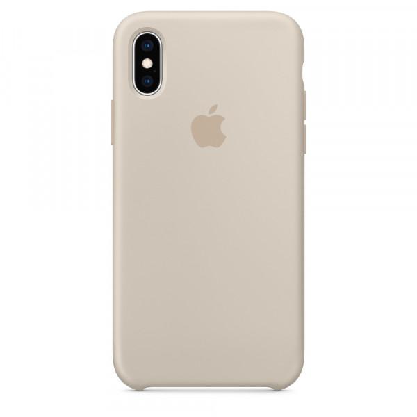 Чехол Apple Silicone Case для iPhone X / XS (Stone) Original (MRWD2)