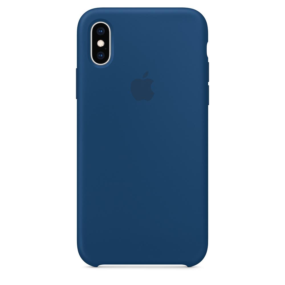Чехол Apple Silicone Case для iPhone X / XS (Blue Horizon) Original (MTF92)