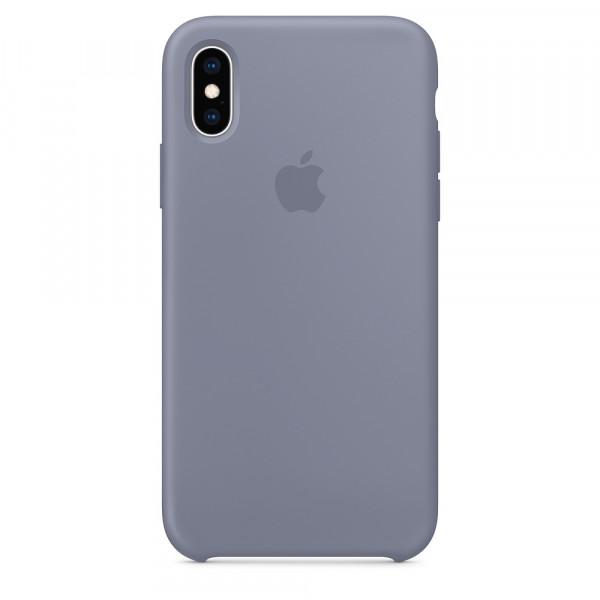 Чехол Apple Silicone Case для iPhone X / XS (Lavender Gray) Original (MTFC2)