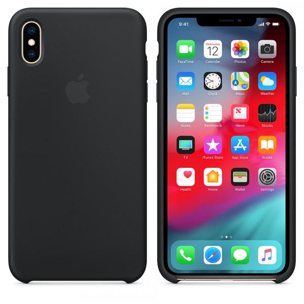 Чехол Apple Silicone Case для iPhone XS Max Black Original (MRWE2)