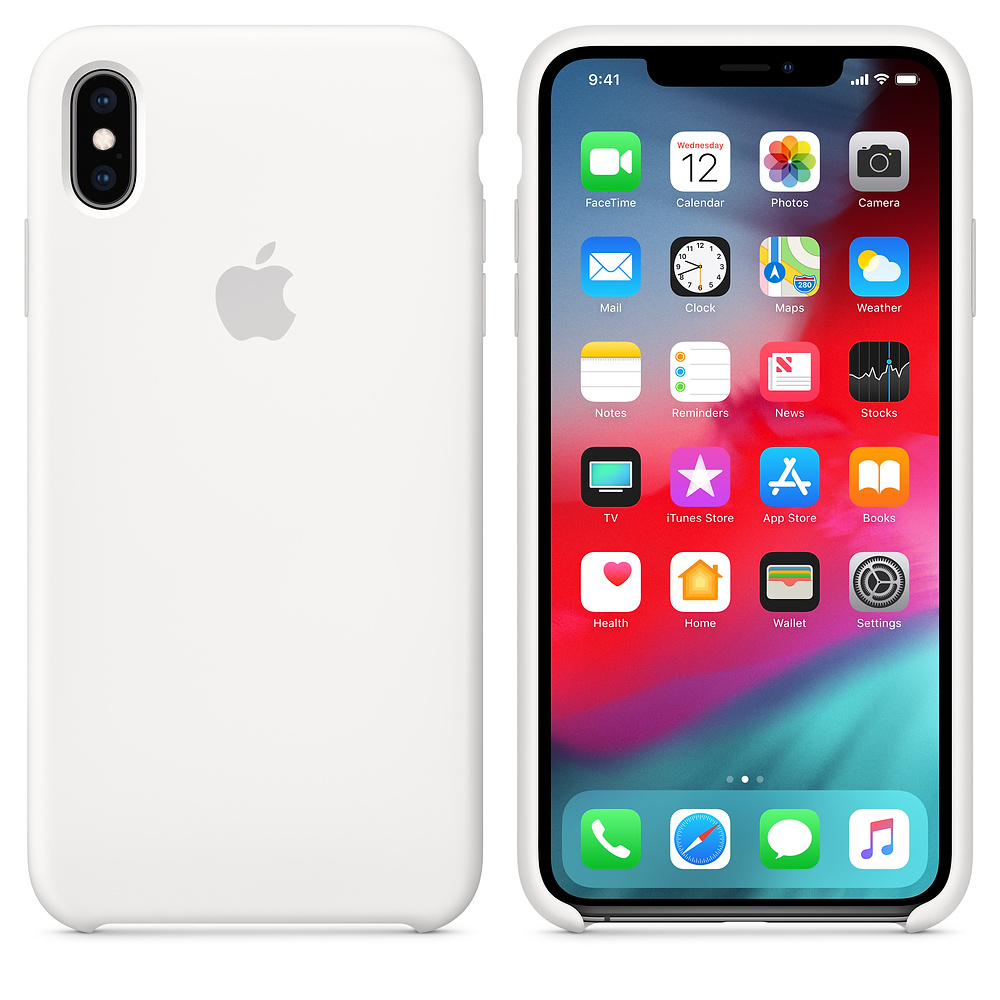 Чехол Apple Silicone Case для iPhone XS Max White Original (MRWF2)