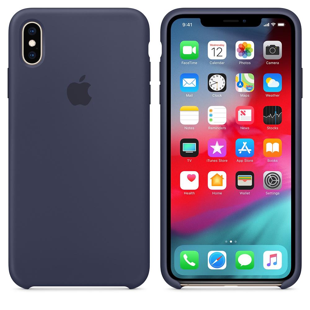 Чехол Apple Silicone Case для iPhone XS Max Midnight Blue Original (MRWG2)