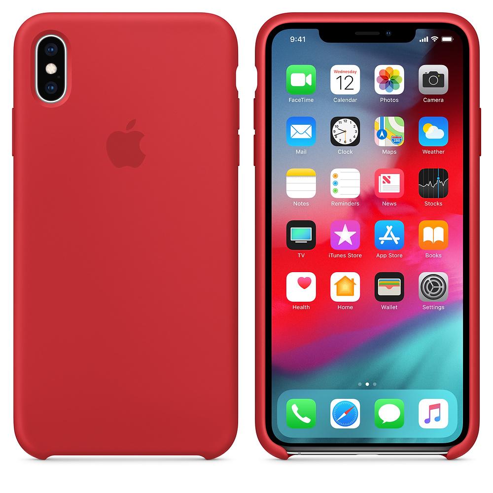 Чехол Apple Silicone Case для iPhone XS Max (PRODUCT)RED Original (MRWH2)