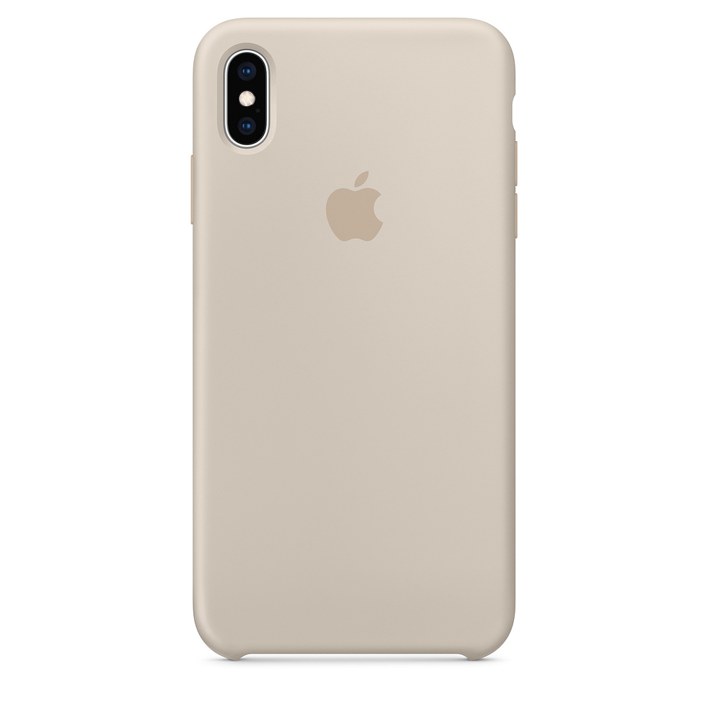 Чехол Apple Silicone Case для iPhone XS Max Stone Original (MRWJ2)
