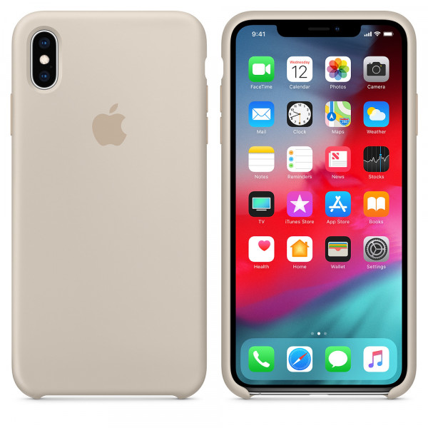 Чехол Apple Silicone Case для iPhone XS Max Stone Original (MRWJ2)