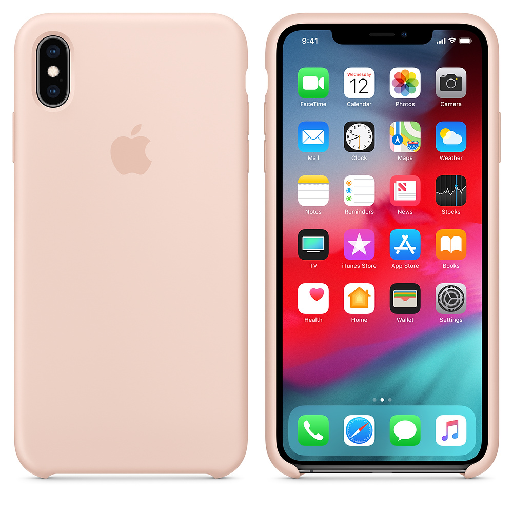 Чехол Apple Silicone Case для iPhone XS Max Pink Sand Original (MTFD2)
