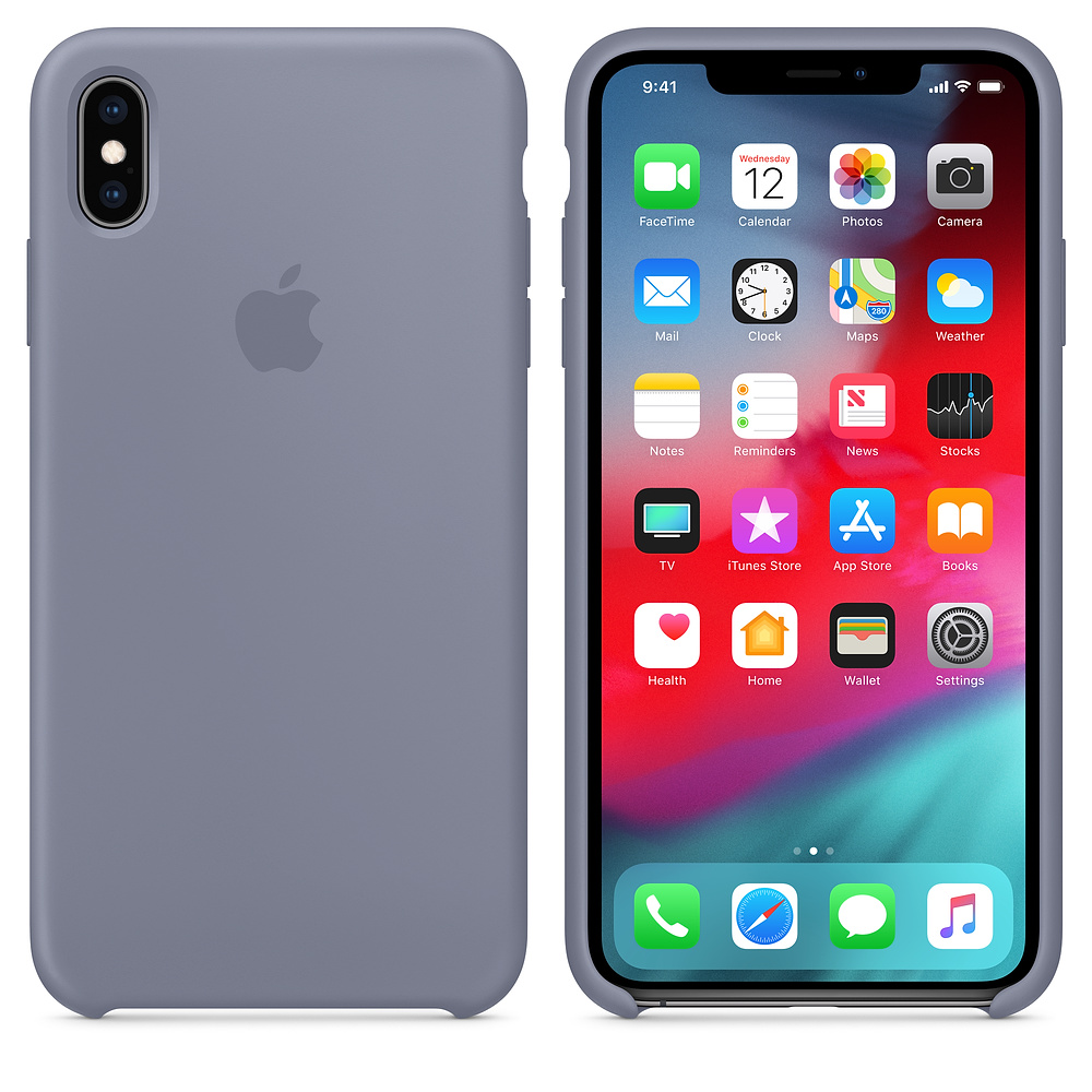 Чехол Apple Silicone Case для iPhone XS Max Lavender Gray Original (MTFH2)