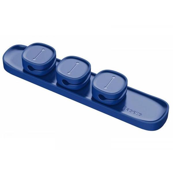 Держатель кабеля Baseus Peas ACWDJ-03 Blue
