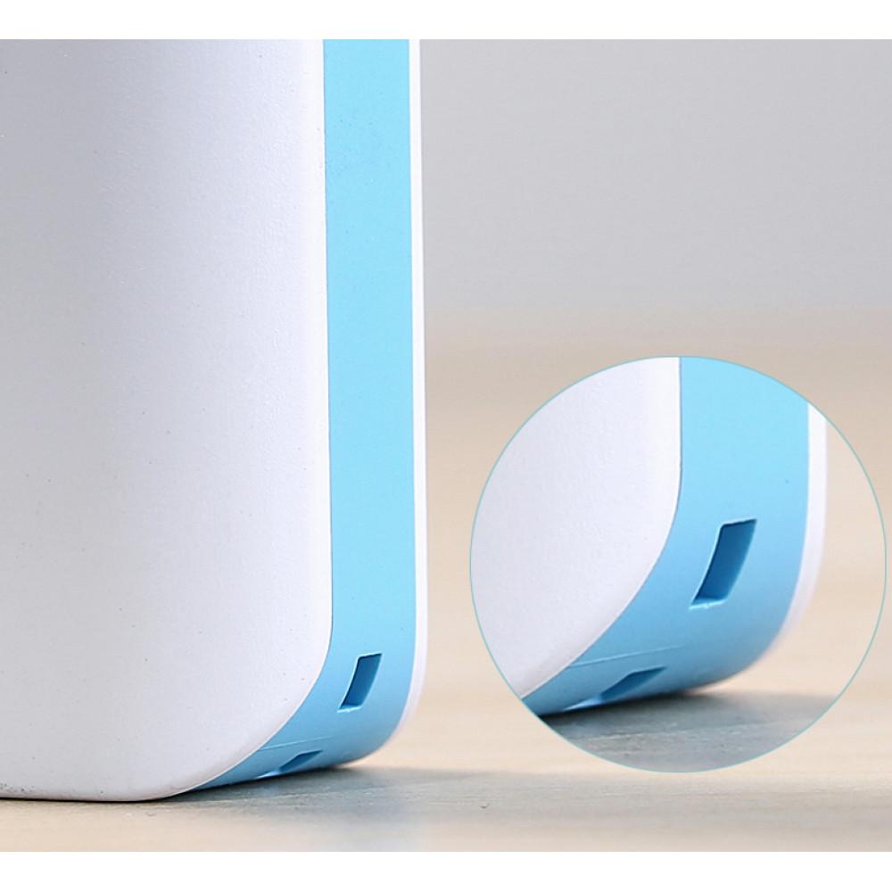 Внешний аккумулятор (Power Bank) Remax mini (RM1-006) 2600mAh Белый/Синий + Кабель microUSB-USB