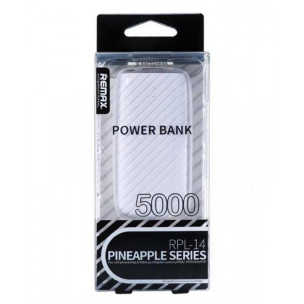 Внешний аккумулятор (Power Bank) Remax Pineapple (RPL-14) 5000mAh Белый