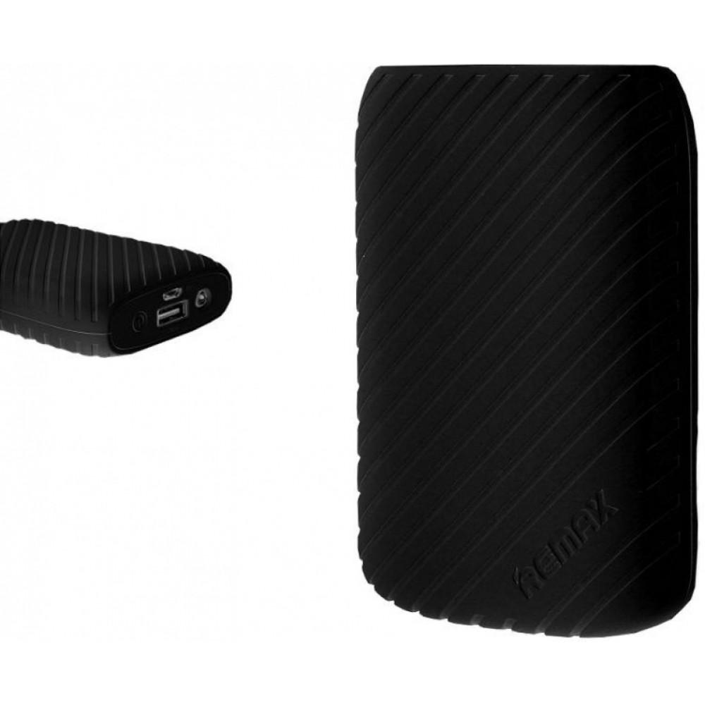 Внешний аккумулятор (Power Bank) Remax Pineapple (RPL-15) 8000mAh Чёрный + Кабель microUSB-USB