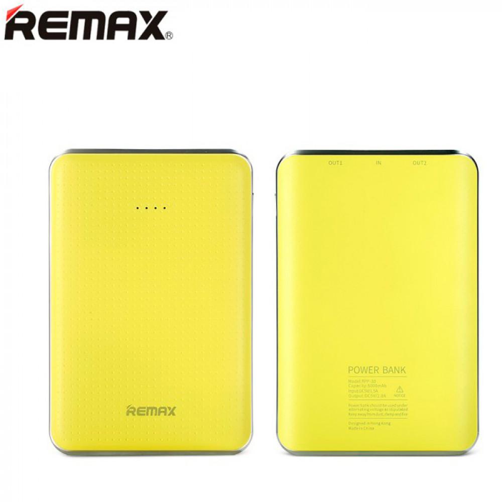 Remax Tiger Power Bank 5000mAh Yellow (RPP-33)