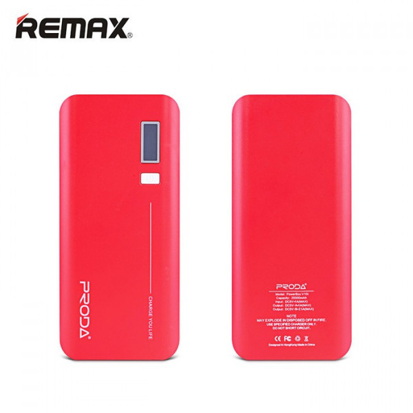 REMAX Proda V10i LCD PowerBox 20000mAh Red