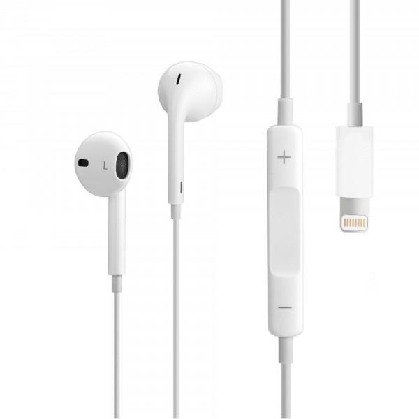 Оригинальные наушники Apple EarPods с переходником Lightning (MMTN2) для iPhone, iPad, iPod
