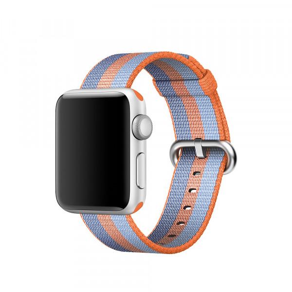 Ремешок из плетёного нейлона Apple (Оранжевый)