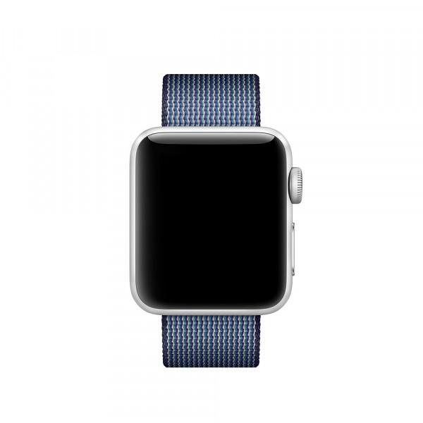 Ремешок из плетёного нейлона Apple (Тёмно-синий)