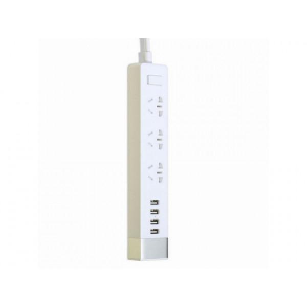 Сетевой фильтр Remax RU-S2 (3 розетки + 4 usb) 2м White